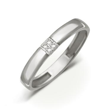 Кольцо обручальное из белого золота Арт. 01-1760 купить по недорогой ... 63ca4790ed6