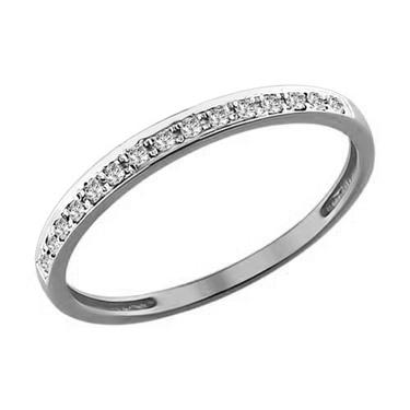 Кольцо Арт. 1011396б. Обручальное кольцо из белого золота с бриллиантами ed10f498c8c