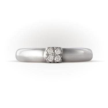Кольцо Арт. 22818б. Обручальное кольцо из белого золота с бриллиантами 6935cfd0045