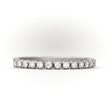 Кольцо Арт. RN00342. Обручальное кольцо из белого золота с бриллиантами a6334b12641