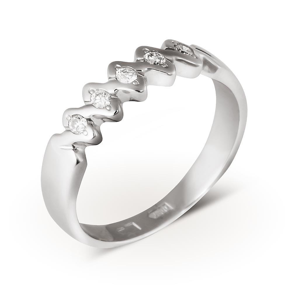 Кольцо Арт. 221238б. Обручальное кольцо из белого золота с бриллиантами ace2e95392a